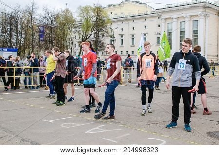 People During Open Sport Training On The Main Square Of Kirov Ci