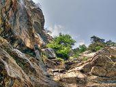 Waterfalls. Crimea. Ukraine. poster