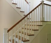 steps stair white painted and hardwood staircase interior stairway poster