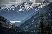 the white pass mountains in british columbia poster