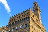 Palazzo Vecchio at the Piazza della Signoria in Florence Italy poster