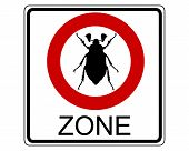 Detailed and colorful illustration of cockchafer traffic sign poster