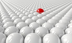 Standing out from the crowd concept or leader concept.