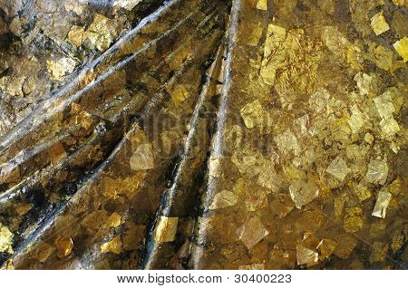 Gold Foil on Statue