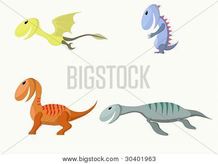 Four  monsters. Vector illustration