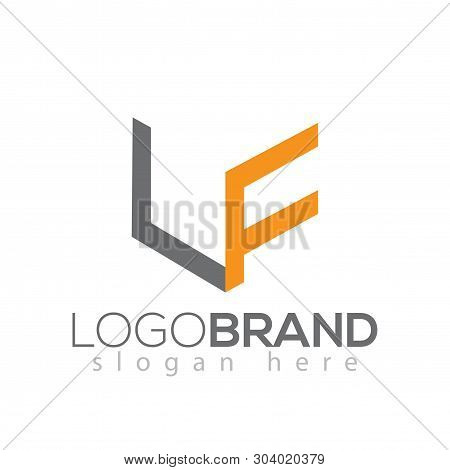 L F Initial Letter Logo Vector Element Template