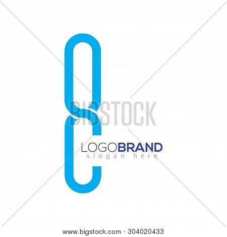O C Letter Initial Logo Vector Element. Eight Logo Template