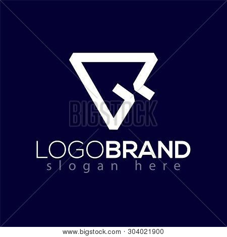 G Letter Initial With Cursor Logo Vector Element. Cursor Logo Template