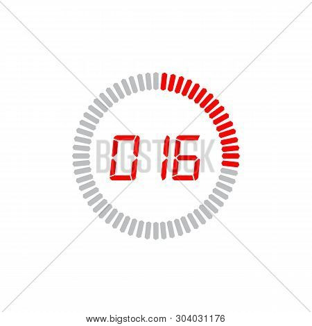 The 16 Seconds Icon Isolated On White Background. The 16 Seconds Icon Simple Sign. The 16 Seconds Ic