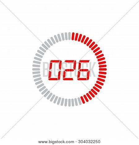 The 26 Seconds Icon Isolated On White Background. The 26 Seconds Icon Simple Sign. The 26 Seconds Ic