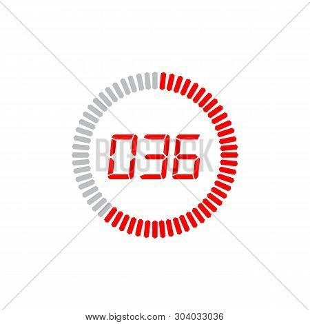 The 36 Seconds Icon Isolated On White Background. The 36 Seconds Icon Simple Sign. The 36 Seconds Ic