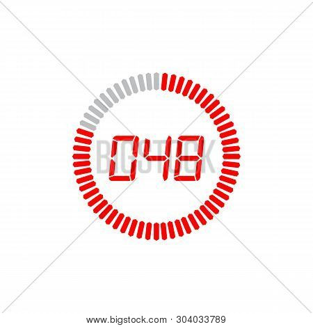 The 48 Seconds Icon Isolated On White Background. The 48 Seconds Icon Simple Sign. The 48 Seconds Ic