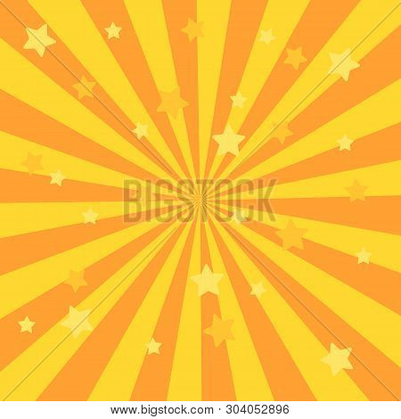 Sunlight Retro Faded Grunge Background. Blue And Red Color Burst Background. Vector Illustration. Su