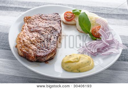 Beef Steak On A Plate