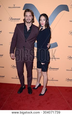 LOS ANGELES - MAY 30:  Luke Grimes, Kelsey Asbille at the