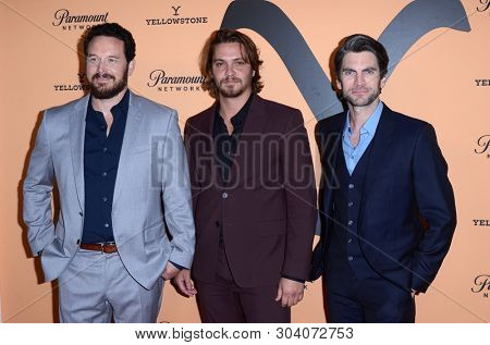 LOS ANGELES - MAY 30:  Cole Hauser, Luke Grimes, Wes Bentley at the