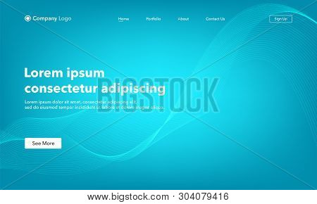 Asbtract Background Website Landing Page. Template For Websites, Or Apps. Modern Design. Abstract Ve
