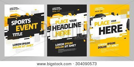 Layout Design Template For Sport Event, Tournament Or Competition.