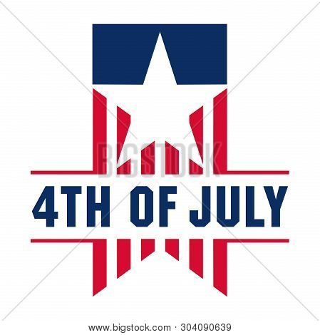 Fourth July Vintage Vector & Photo (Free Trial) | Bigstock
