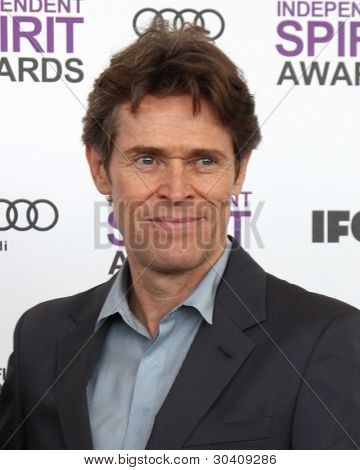 LOS ANGELES - FEB 25:  Willem Dafoe arrives at the 2012 Film Independent Spirit Awards at the Beach on February 25, 2012 in Santa Monica, CA