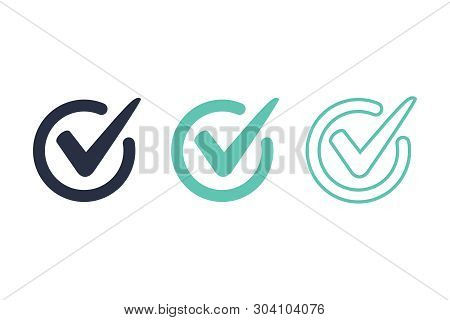 Check Mark Logo Vector Or Icon Vector Illustration Concept Image Icon. Access, Right Answer Icons Se