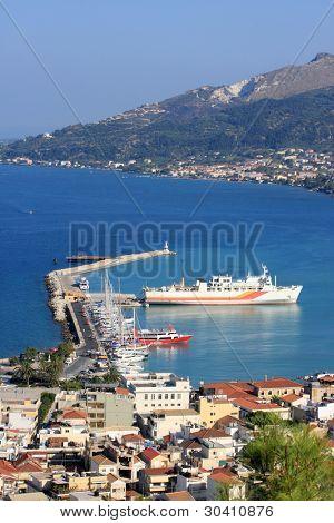 The city Zakynthos on the island Zakynthos, Hellenic Republic