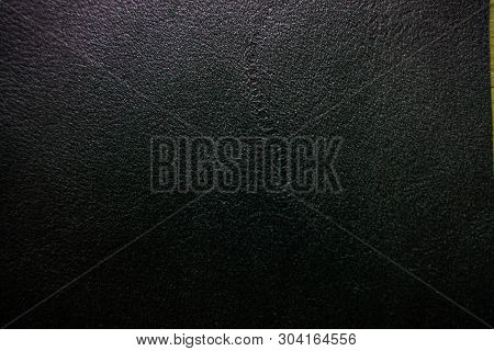 Abstract Black Genuine Fullgrain Leather Background