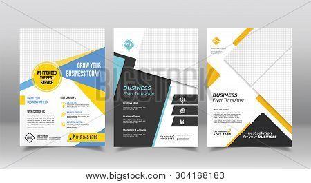 Corporate Business Brochure Design Template. Geometric Business Flyer Brochure Design Template
