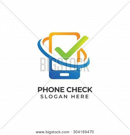 Mobile Phone Repair Logo Template. Phone Service Icon Symbol. Phone Check Logo Designs