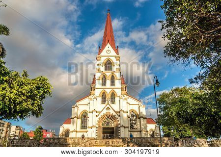 San Jose,costa Rica - March 22,2019 - View At The Church Our Lady Of Mercy In San Jose. San Jose Is