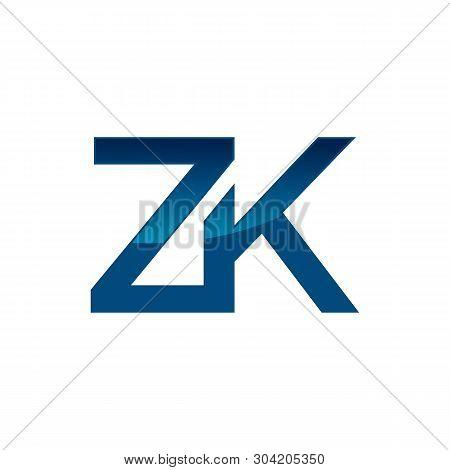 Letter Z And K Or Zk Letter Logo For Company Vector Design Illustration