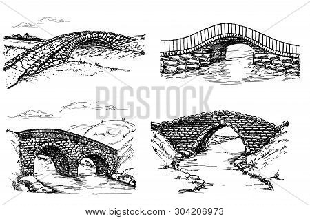 Seth Of Stone Bridges Over The River, Drawing Sketch
