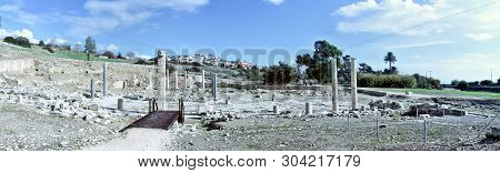Panoramic View Of The The Temple Of Aphrodite, Cyprus