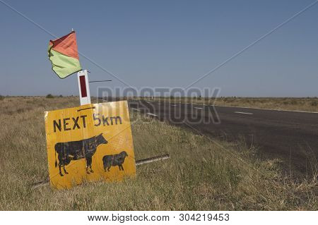 Livestock (sheep And Cattle) Warning Sign, Australia