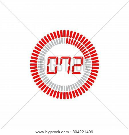 The 72 Seconds Icon Isolated On White Background. The 72 Seconds Icon Simple Sign. The 72 Seconds Ic
