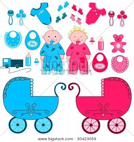 Babies with accessories