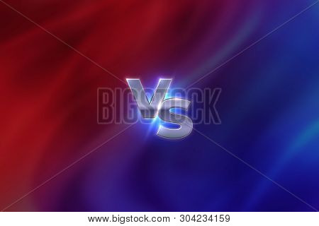 Versus Concept. Vs Letters Sport Competition Emblem, Game Battle Concept, Mma Banner Screen. Vector
