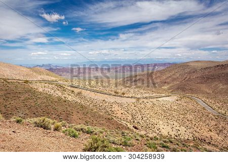 Dante's View Road In Death Valley National Park. California, Usa