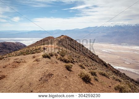 Dante's View Point. This Spot Is Popular With Tourists Looking For A Great View Of Death Valley. Cal