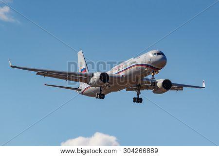 Moscow, Russia - April 03, 2019: Aircraft Tupolev Tu-214vpu Ra-64517 Of Rossiya - Special Flight Det