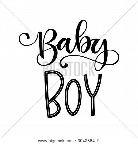 Baby Boy Logo Quote. Vector & Photo (Free Trial)   Bigstock