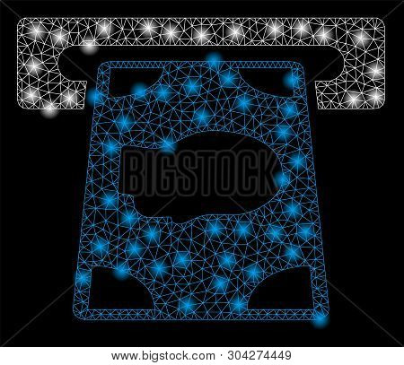 Gold Square Mosaic And Solid Cashpoint. Vector Geographic Cashpoint In Yellow Golden Color Hues. Abs