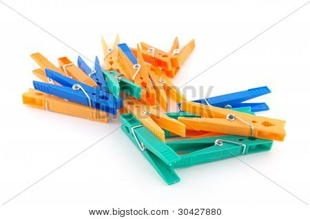 Color Clothes-pegs