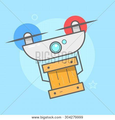 Drone Delivery Vector & Photo (Free Trial) | Bigstock