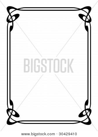 Vector art nouveau modern ornamental decorative frame poster