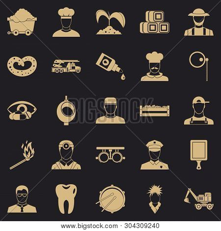 Occupational Icons Set. Simple Set Of 25 Occupational Vector Icons For Web For Any Design