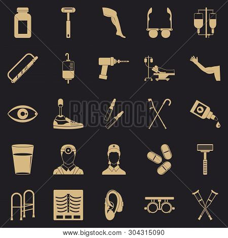 Cripple Icons Set. Simple Set Of 25 Cripple Vector Icons For Web For Any Design