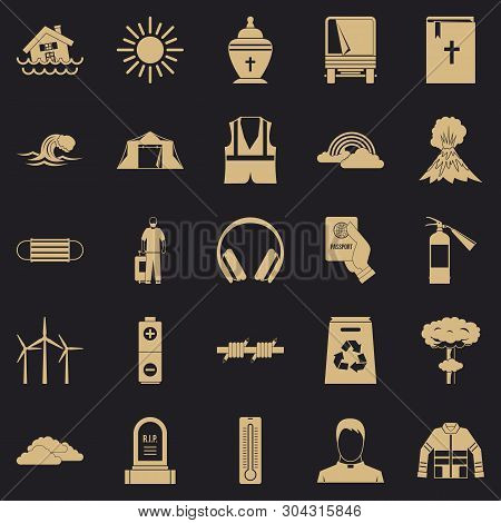 Misfortune Icons Set. Simple Set Of 25 Misfortune Vector Icons For Web For Any Design