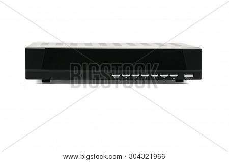Digital Tv Receiver On An Isolated White Background.tuner