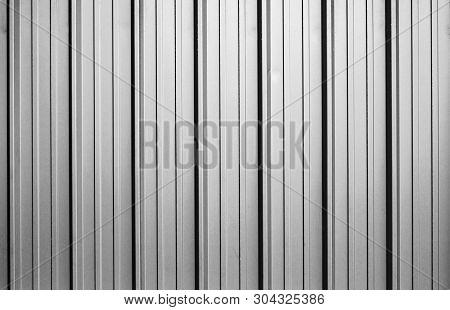 Corrugated Metal Sheet Texture Background, Full Frame